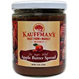 Kauffman's Homemade Spiced Apple Butter, No Sugar Added, 17 Oz. Jar (Pack of 2 Jars)