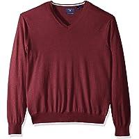 GANT Mens 80212 The Cotton Silk Wool V-Neck Sweater Long Sleeve Sweater