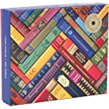 Galison Phat Dog Vintage Library 1000 Piece Jigsaw Puzzle for Adults and Families, Foil Stamped Challenging Puzzle Adds A Vib