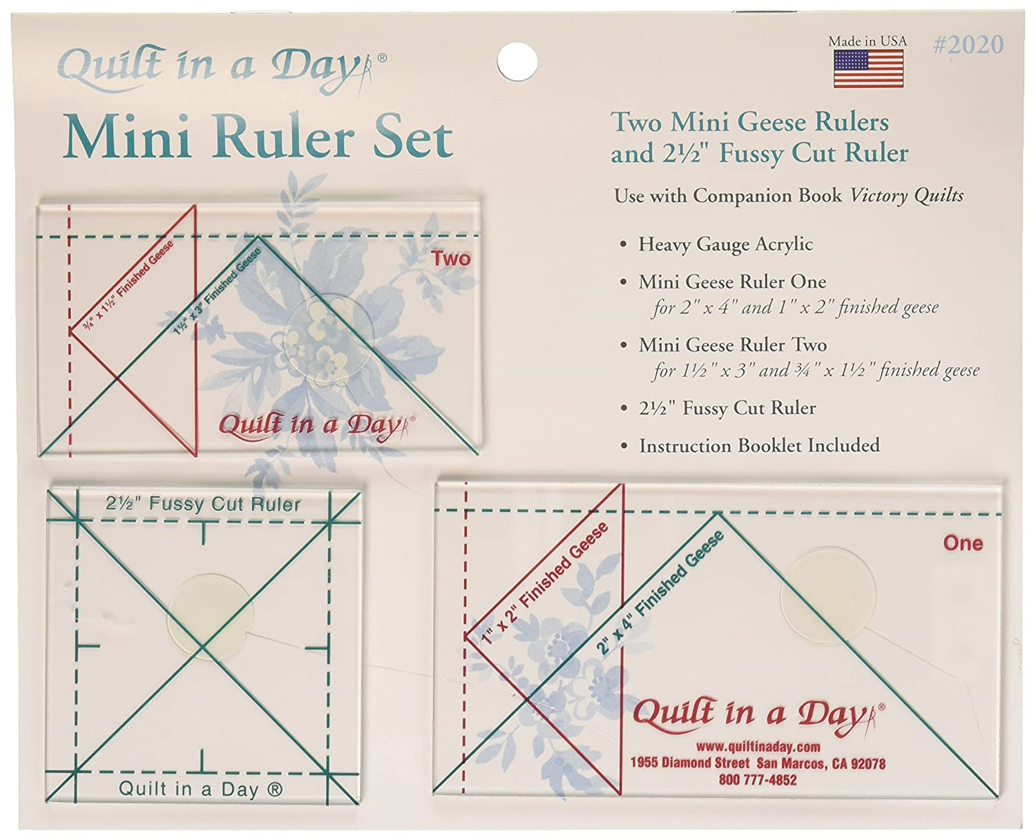 Amazon.com: Quilt In A Day Mini Ruler Set, 3 Pieces : quilt in a day ruler - Adamdwight.com