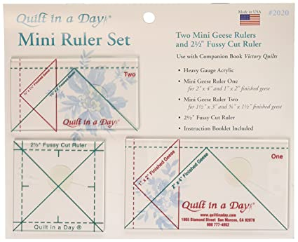 Amazon Quilt In A Day Mini Ruler Set 3 Pieces Arts Crafts