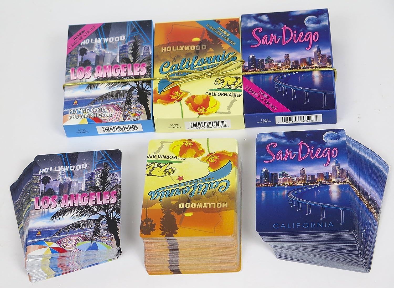 San Diego, Los Ángeles y California Juego de 3 cartas ...