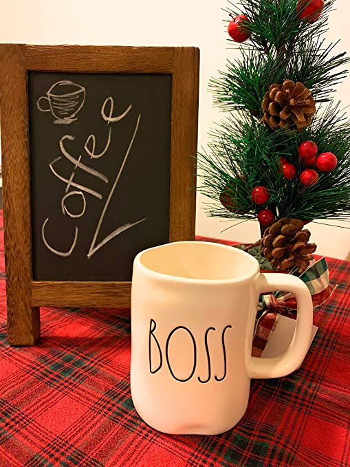Rae Dunn Boss Ceramic Coffee Mug By Magenta
