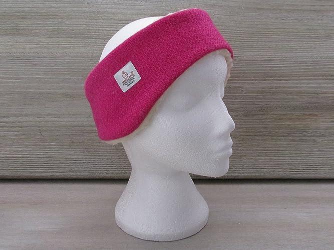 Harris Tweed Fuchsia Pink Luxury Ear Warmer Headband  Amazon.co.uk ... c7a0b345678