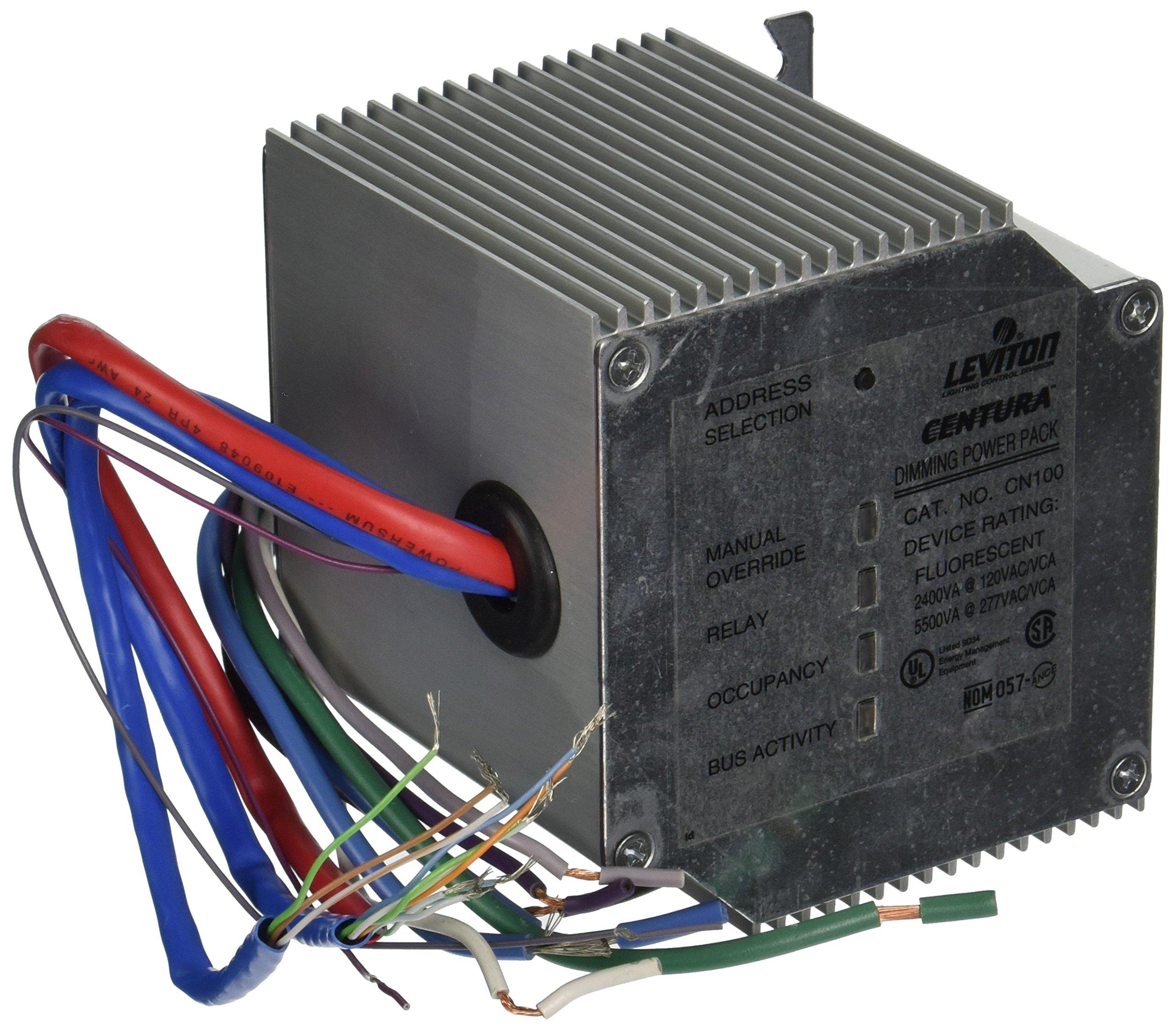 Leviton CN100-D0 Centura Dimming Power Pack for 0-10Vdc Dimming Fluorescent Ballast, Silver