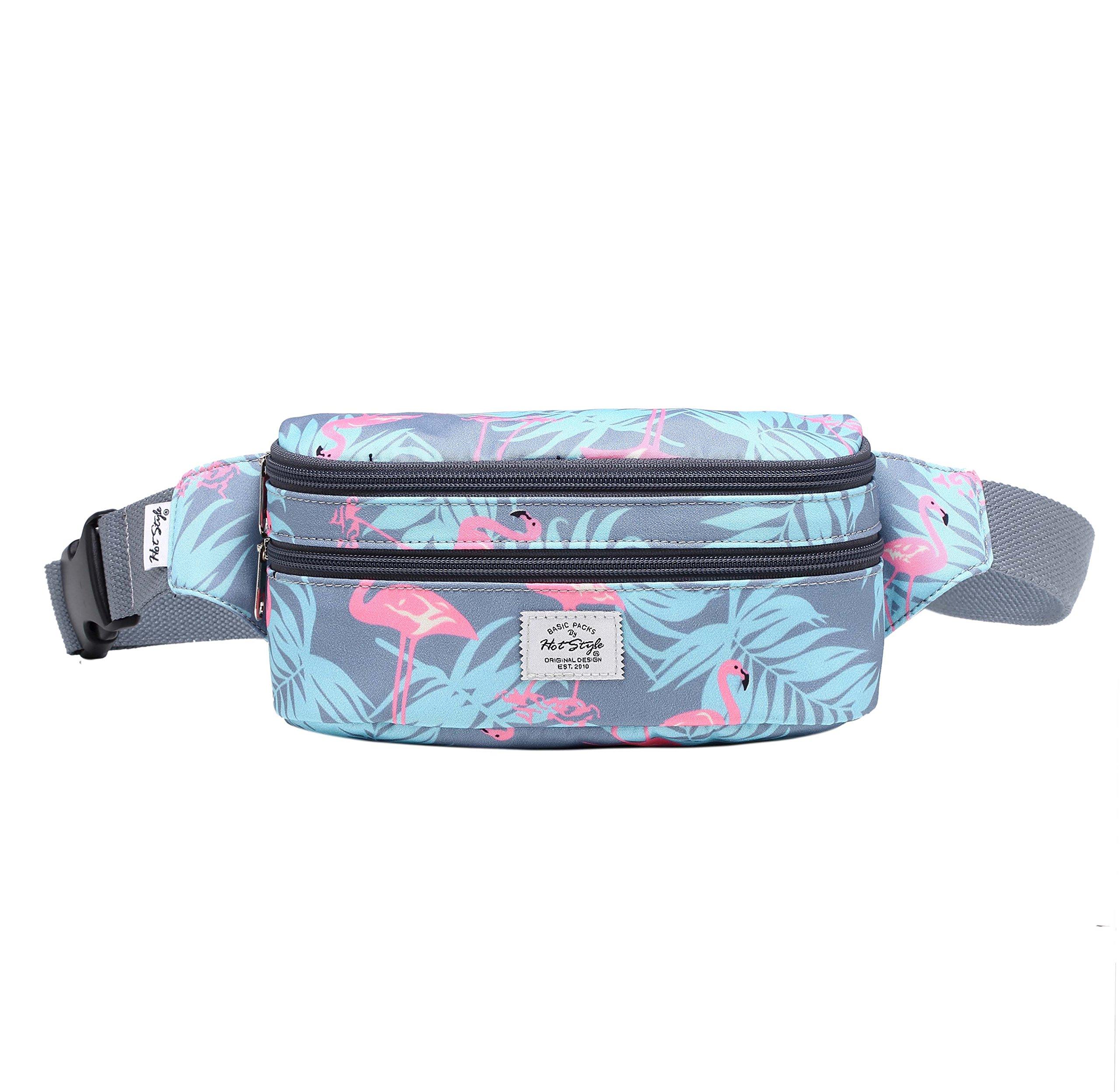 521s Fashion Waist Bag Cute Fanny Pack | 8.0''x2.5''x4.3'' | Millennial Flamingos by hotstyle