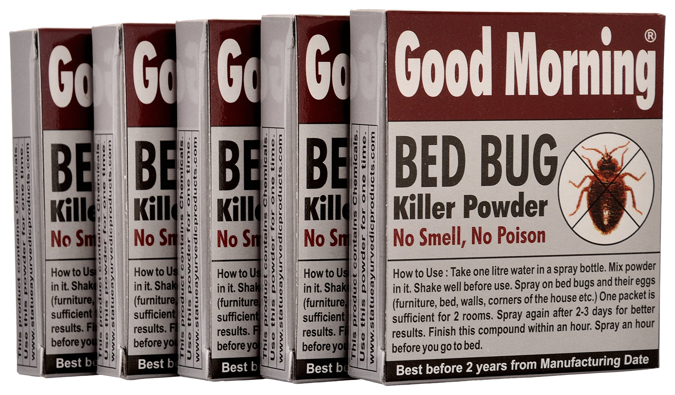 Good Morning Bed Bug Killer Powder (Pack of 5) product image