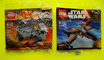 Amazon.com: LEGO Star Wars Poes X-Wing Fighter & Lego Star ...