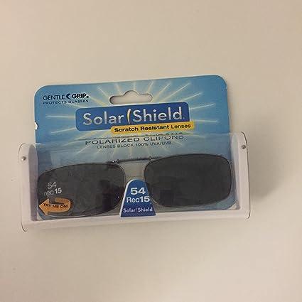 9d36b08ba6 Amazon.com   Solar Shield 54 Rec 15 Full Frame Polarized Clip on Glasses  Blocks 100% Uva uvb   Sports   Outdoors