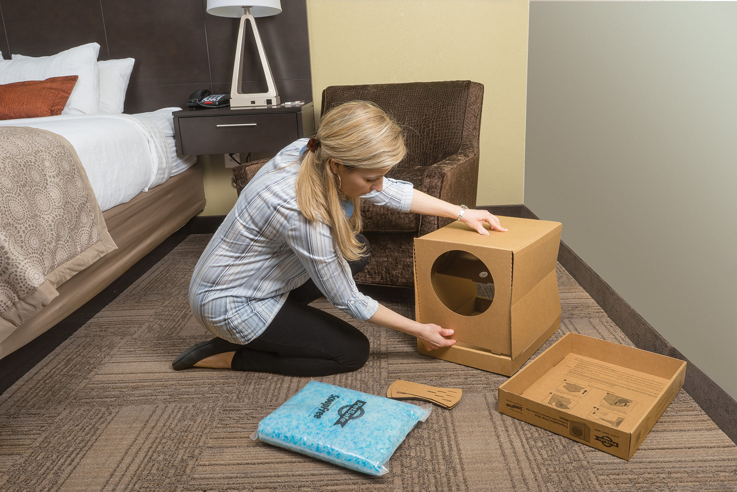 PetSafe Disposable Cat Litter Box, Collapsible Covered Design for Travel, from the Makers of ScoopFree Self Cleaning Litter Box 3