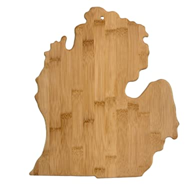 Totally Bamboo 20-7951MI Michigan State Shaped Bamboo Serving & Cutting Board