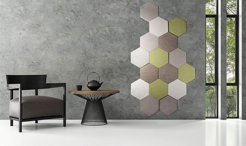 Gris fonc/é 33 x 28,6 x 1,2 cm ANTEVIA/® Panneau acoustique hexagone /épaisseur 12mm