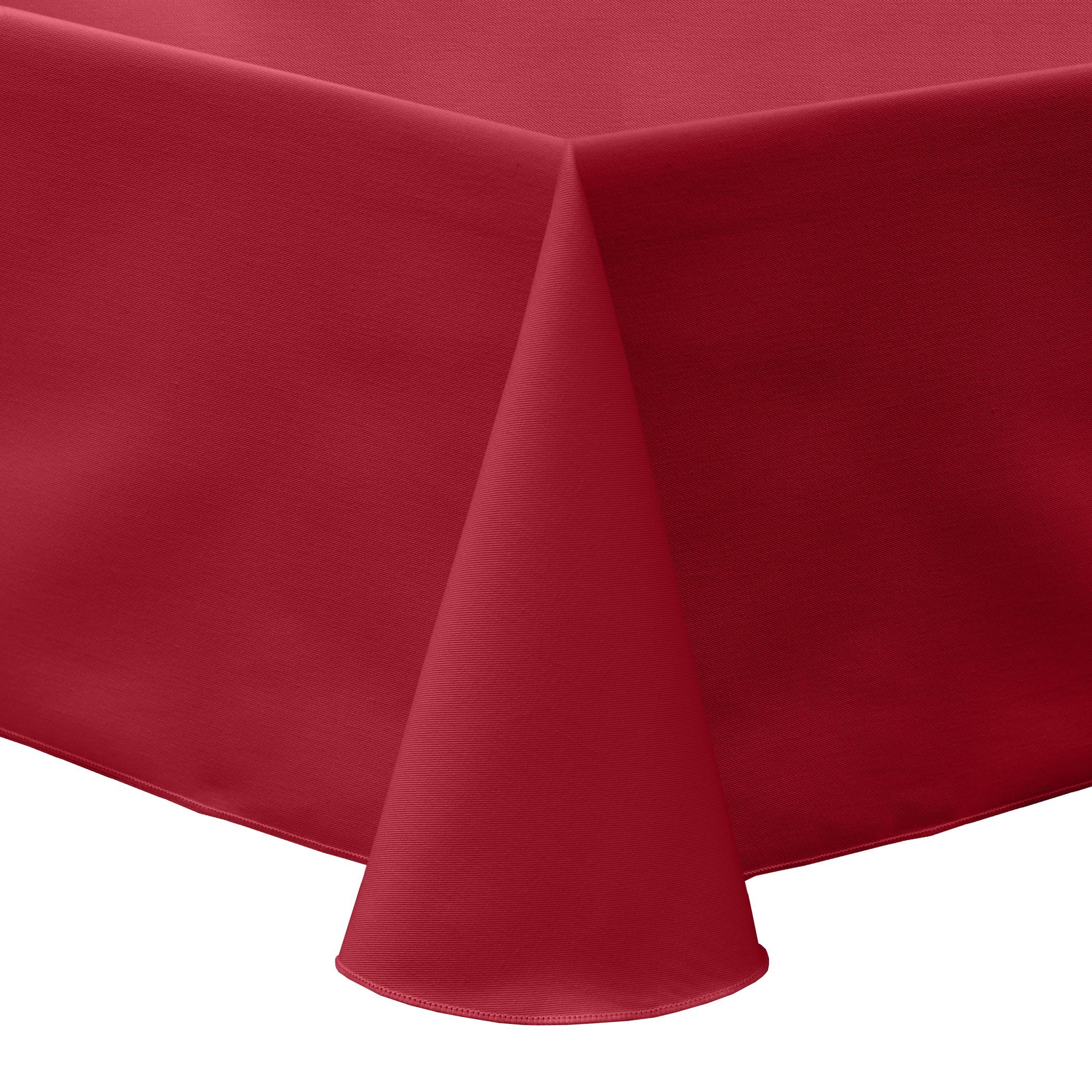 Ultimate Textile (40 Pack) Poly-cotton Twill 52 x 70-Inch Oval Tablecloth - for Home Dining Tables, Red