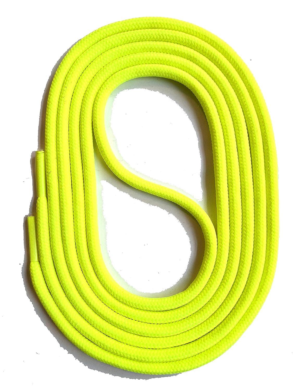 SNORS LACETS de COULEUR ronds NEON JAUNE 2-3mm - Dentelles
