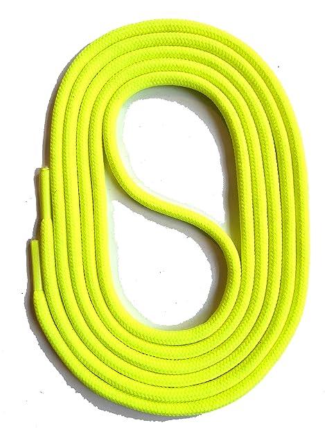 SNORS LACCI COLORATI rotondi NEON GIALLO 60cm 23.6 quot  2-3 mm STRINGHE  PER SCARPE 1ebbe441db6