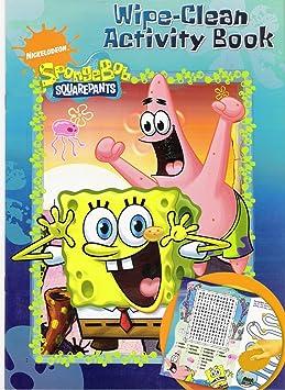 Spongebob Squarepants Essuyez Propre Livre A Colorier Amazon Fr Jeux Et Jouets