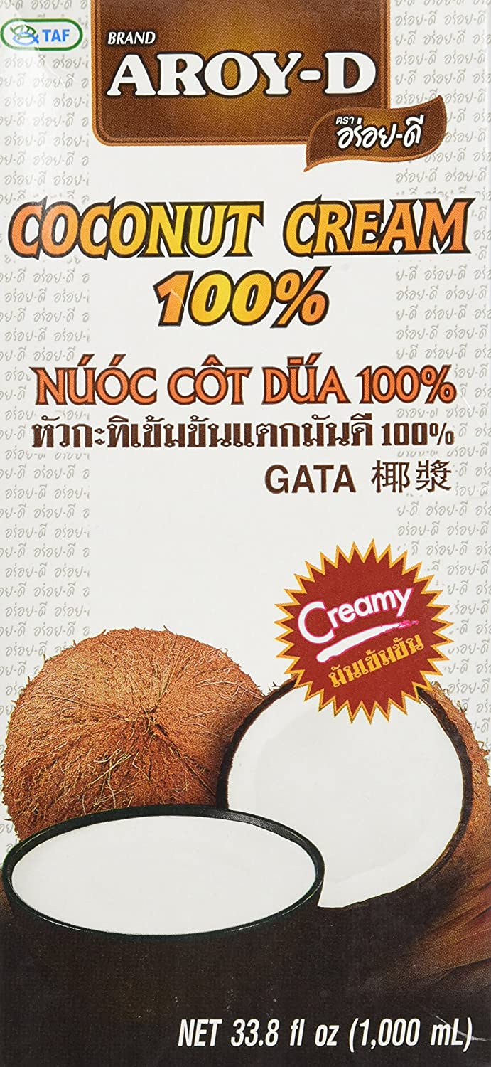 Aroy-D Coconut Cream, 33.8 Fluid Ounce (6-Pack)