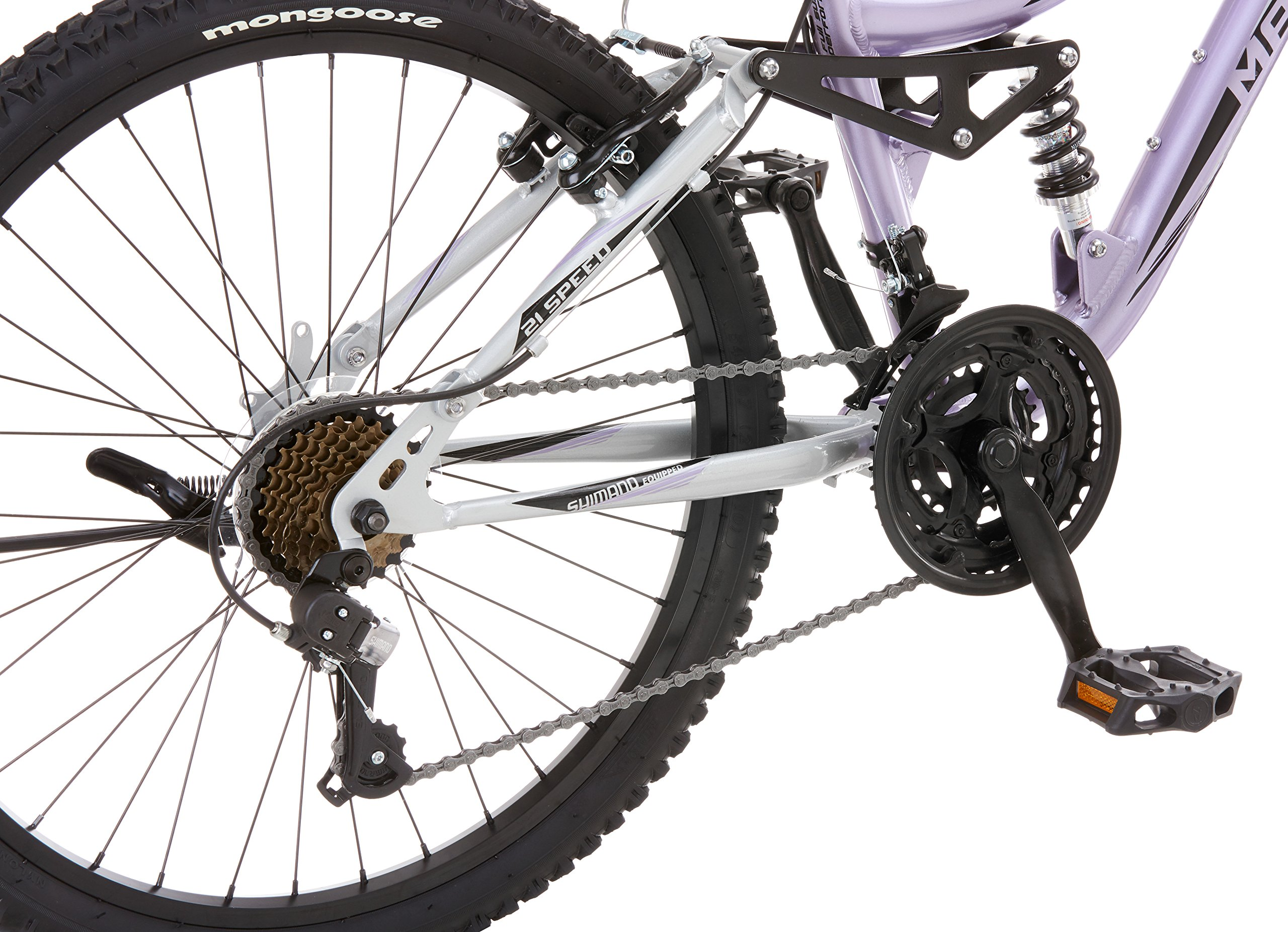 Mongoose Girl's Maxim Full Suspension Bicycle (24-Inch) by Mongoose (Image #5)