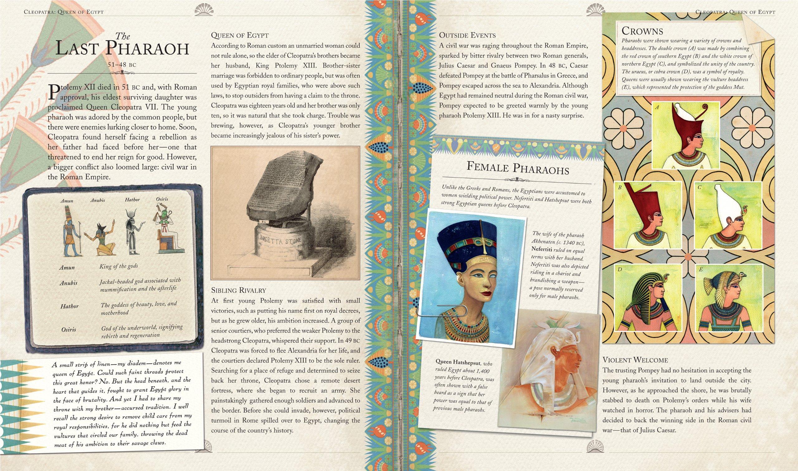Cleopatra: Queen of Egypt (Historical Notebooks): Clint Twist, Ian ...