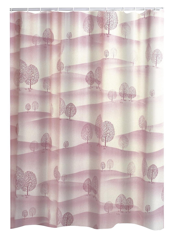 RIDDER Duschvorhang Folie Bilbao inkl. Ringe rosé 120x200 cm