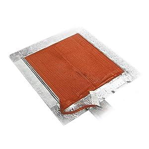 BriskHeat SRL12121P SRL Silicone Rubber Heating Blanket With Pressure Sensitive Adhesive, Square, 120V, W x L: 12 x 12-Inch