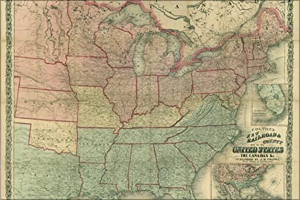Amazoncom 24x36 Poster Railroad Map Of United States Of - Railroad-map-of-the-us