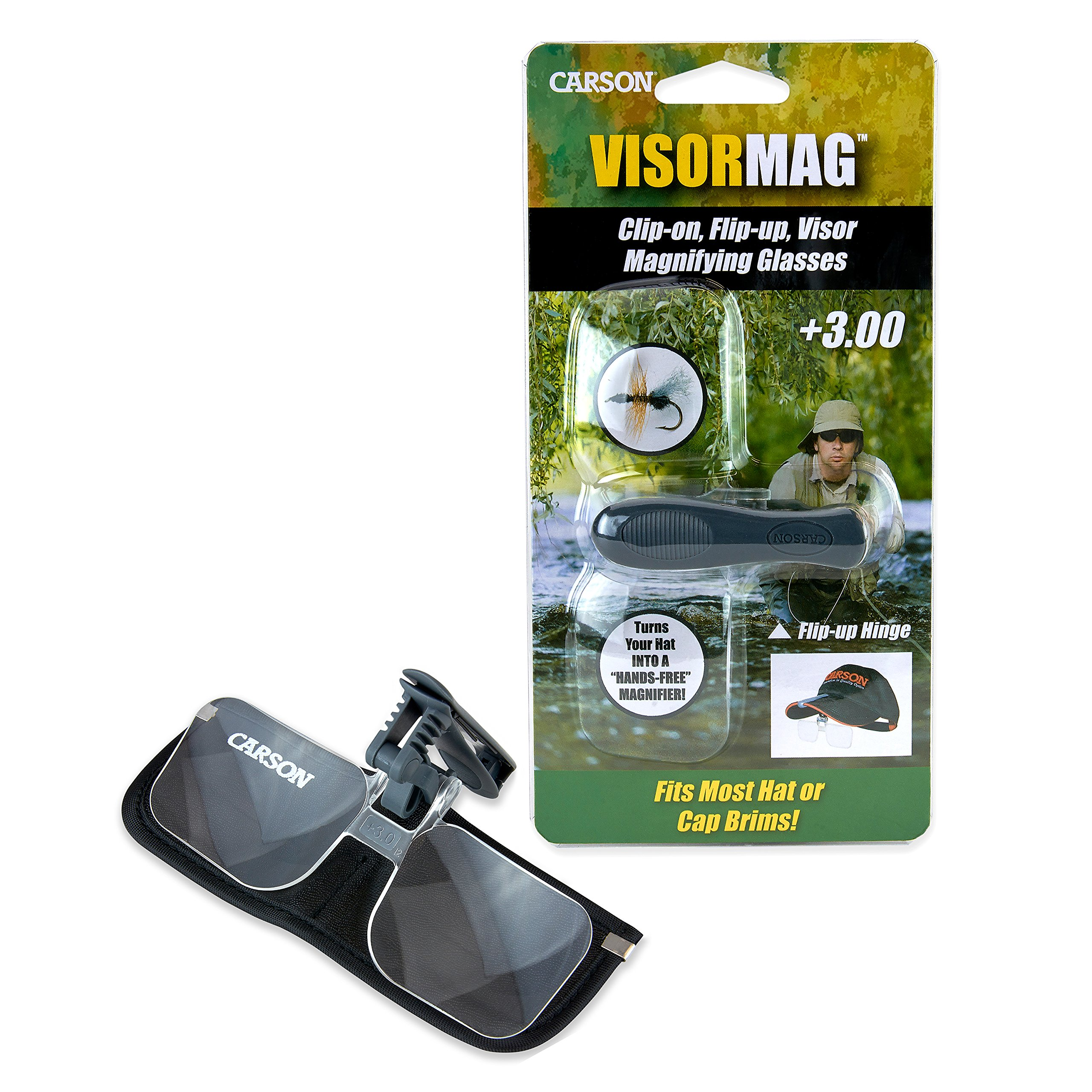 Carson Optical VisorMag 1.75x Power (+3.00 Diopters) Clip-On Magnifying Lens for Hats VM-10 by Carson (Image #5)