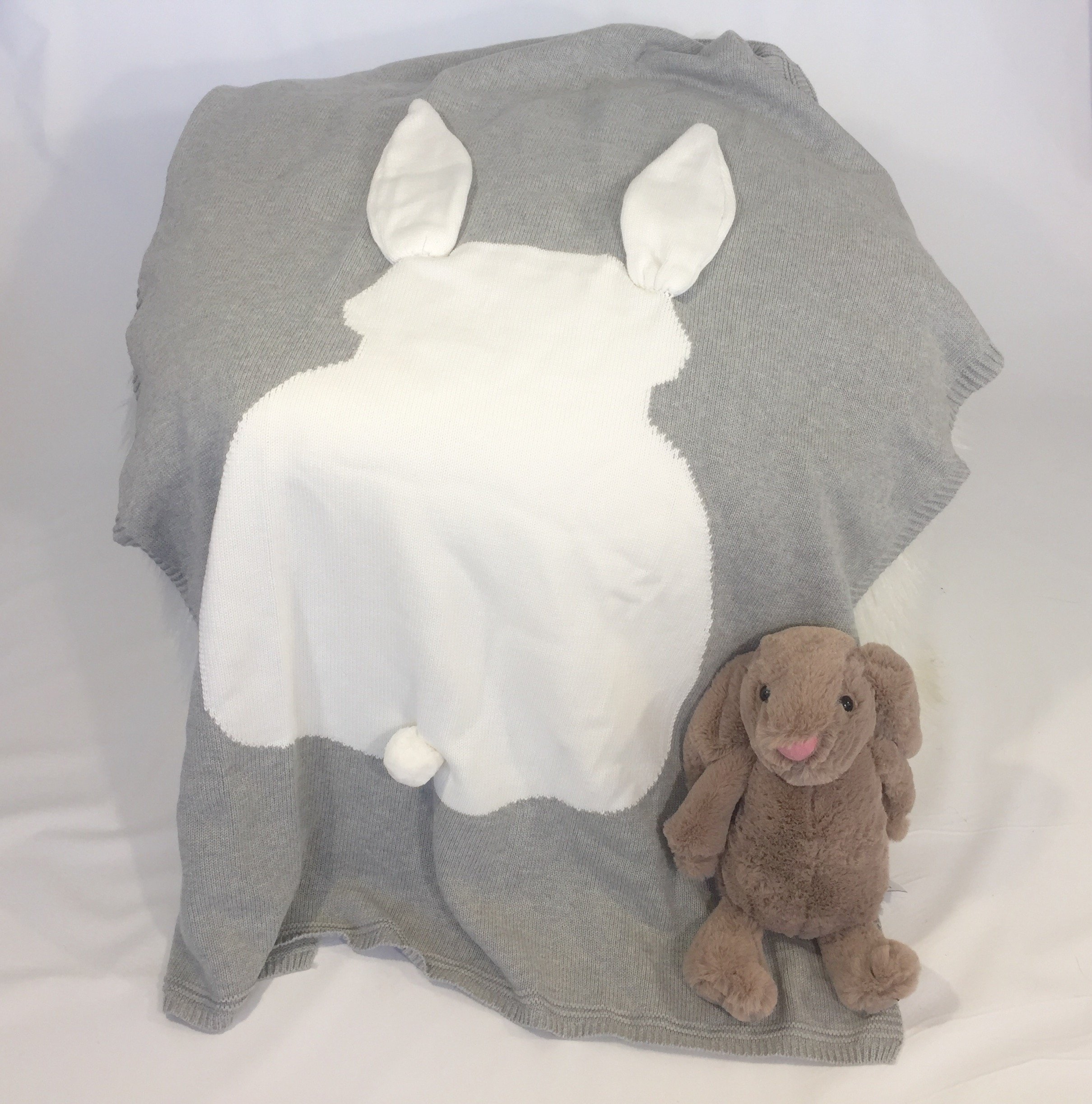MOM Will SAY,Wow! Bundle of Joy Baby Gift Basket/Large Bag, Soft Washcloths, Bunny Plush Toy, Bunny Slippers, Keepsake Bunny Blanket, Bunny Hat, Handmade Tooth Fairy kit, and More!