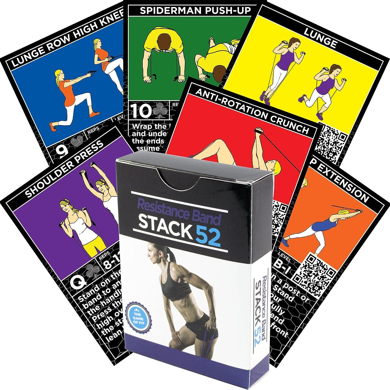 Stack 52 - Tarjetas con ejercicios para bandas de resistencia ...