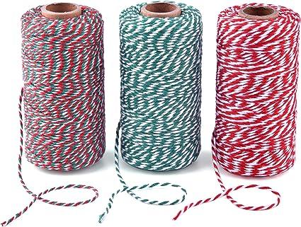 Cordón de cuerda de algodón para envolver regalos, manualidades, 3 ...