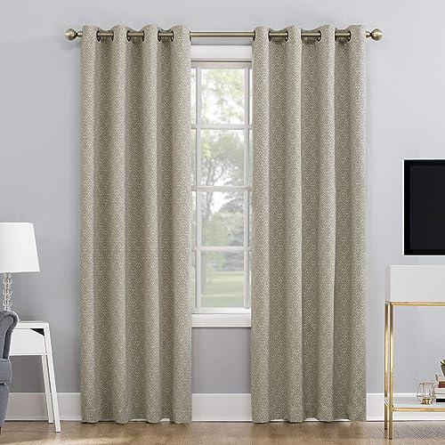 Sun Zero Marcella Damask Jacquard 100 Blackout Grommet Curtain Panel