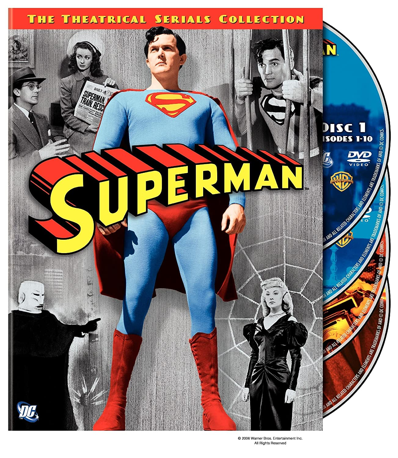 DVD : Superman: The Theatrical Serials Collection (, Dolby, Standard Screen, 4 Disc)