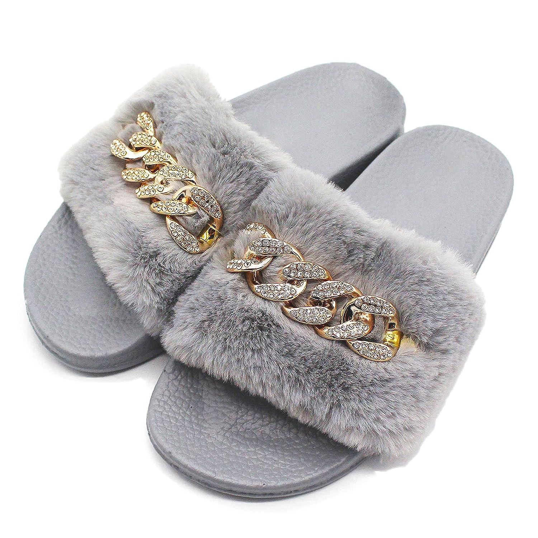 Zkyo Schlappen Damen Sommer Hausschuhe Flache Outdoor Pantoletten Rutschfest Strand Pantoffeln Größe 35-40 T-grau