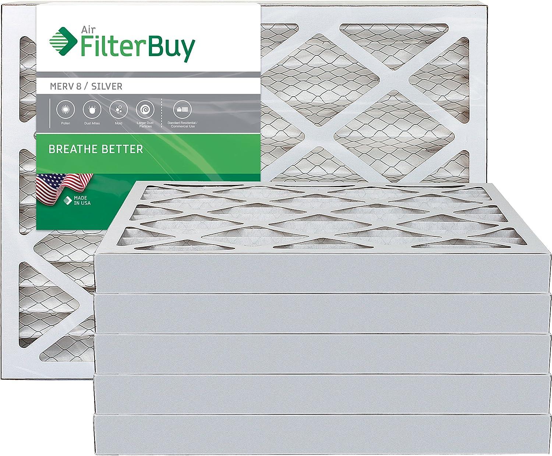 4 PACK 10x20x2 MERV 8 AC Furnace 2 Inch Air Filter