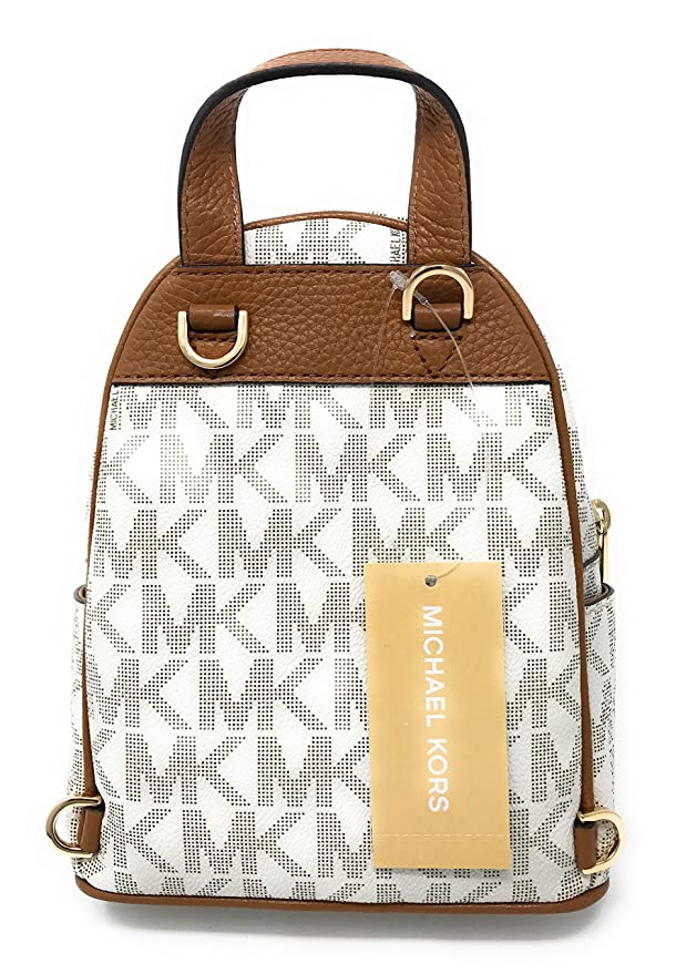 eb27944671fc ... Amazon.com Michael Michael Kors Abbey Extra-Small Signature Studded  Backpack VanillaAcorn Clothing ...