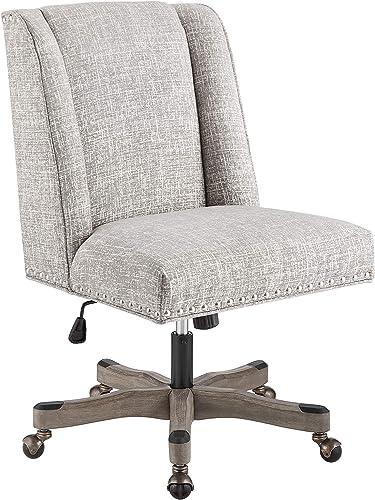 Linon Silver Grey Adjustable Clayton Office Chair