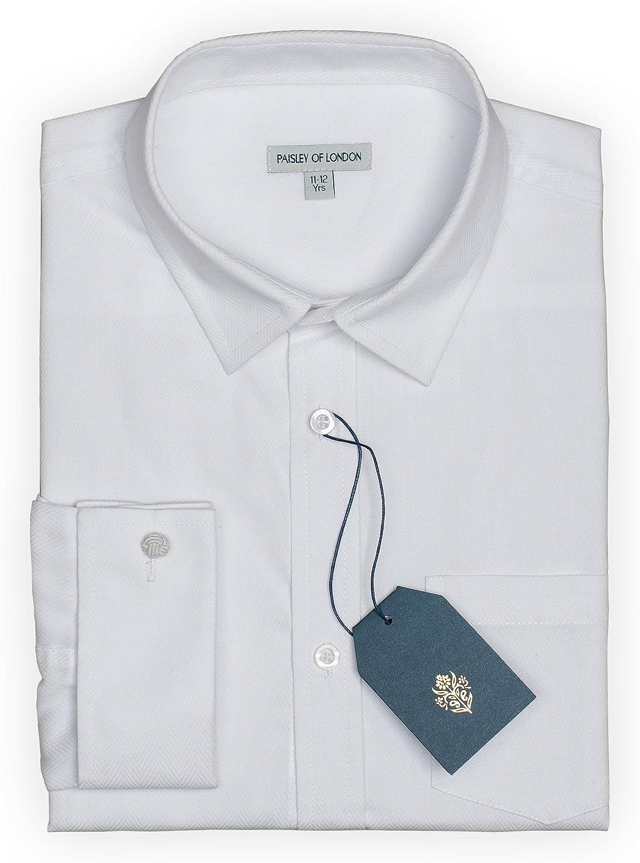 Paisley of London - Camisa color blanco para niños, para niños de 6 meses a 14 años blanco blanco: Amazon.es: Ropa y accesorios