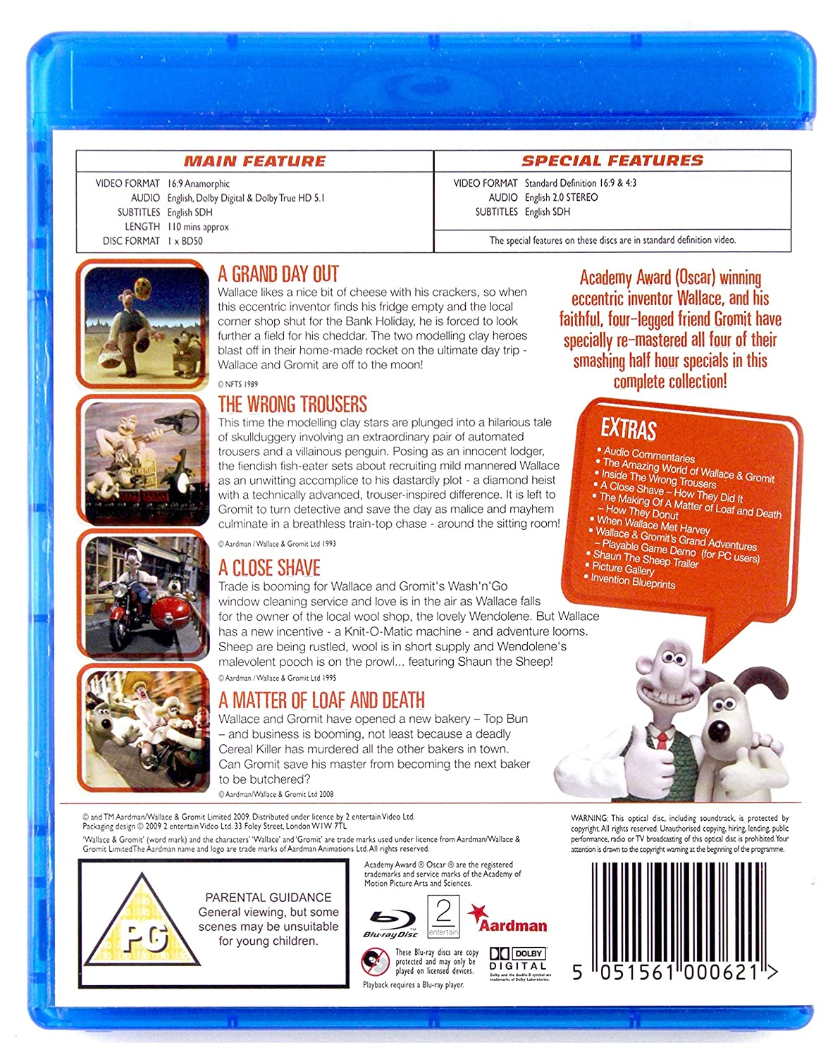 Wallace & Gromit - The Complete Collection Reino Unido Blu-ray ...