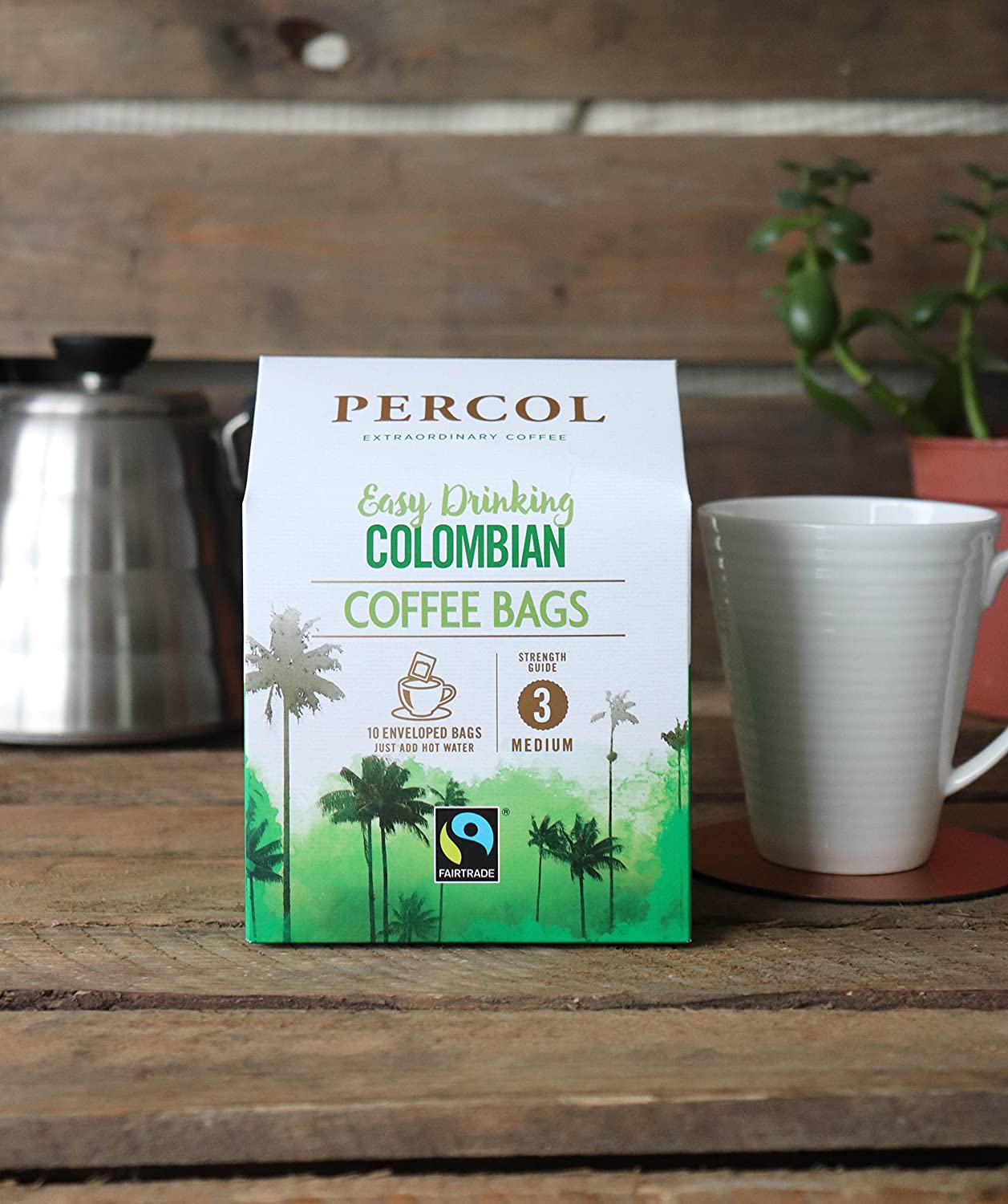 Percol Fairtrade Easy Drinking Colombian Coffee Bags Silky