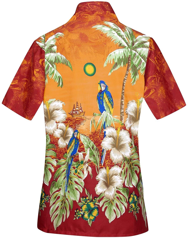 471a154e Women Hawaiian Shirt Blouses Beach Top Tank Casual Aloha Holiday Boho  Button Up at Amazon Women's Clothing store: