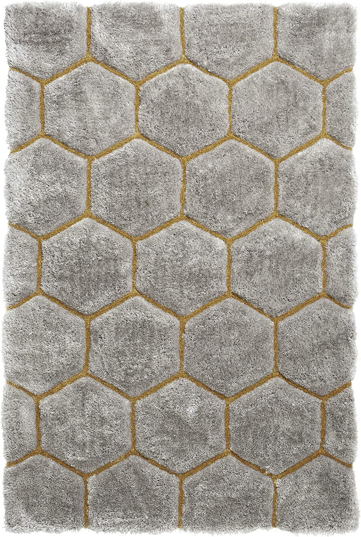 Noble House Nh30782 Grey Yellow 120 X 170 Shaggy Hand Tufted Rug 70 Acrylic 30 Polyester Amazon Co Uk Diy Tools