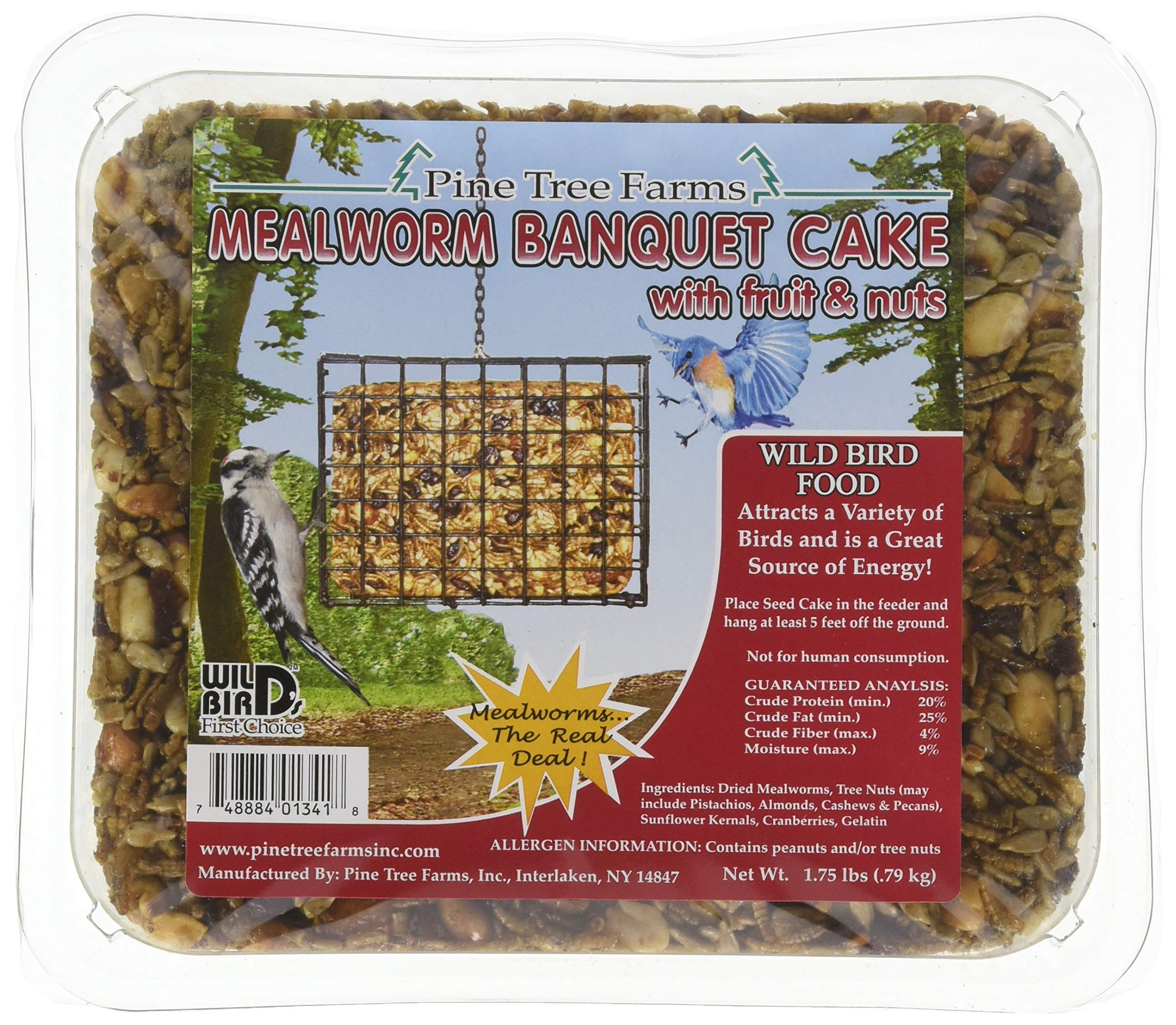Pine Tree Farms 1341 Mealworm Banquet Cake, 1.75 lb