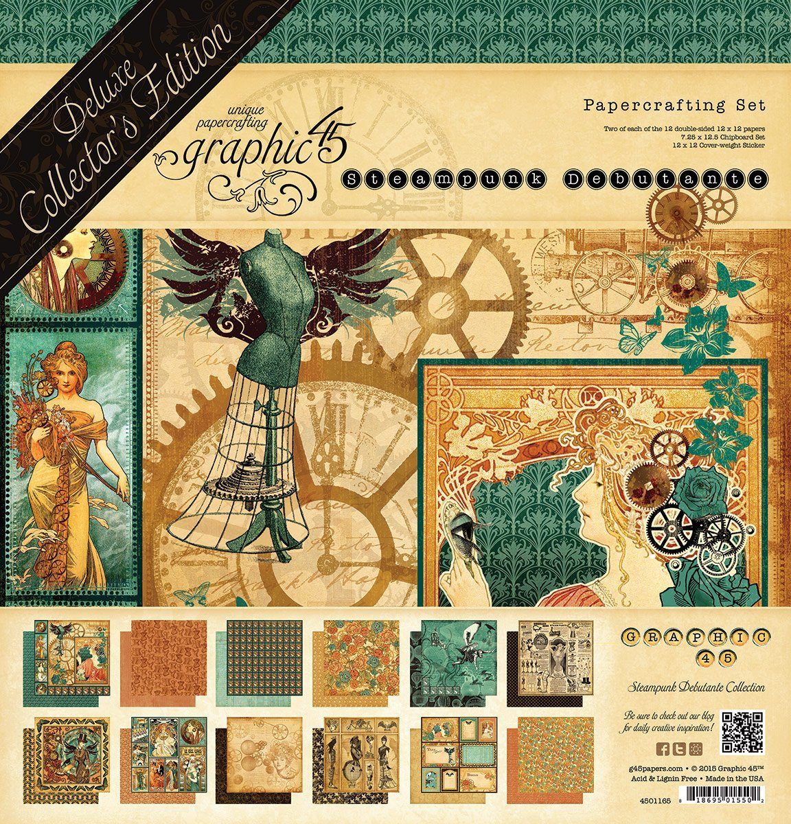Graphic 45 4501165 Steampunk Debutante-Deluxe Collector's Edition