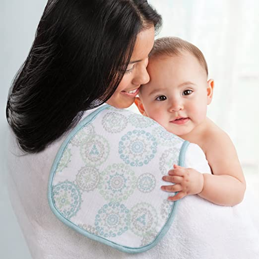 Born Free Soft Clean Burp Cloth, Deco Circle