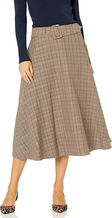 Tommy Hilfiger 汤美费格 女式格子束带马克西裙 半身裙 4折$39.98 海淘转运到手约¥342