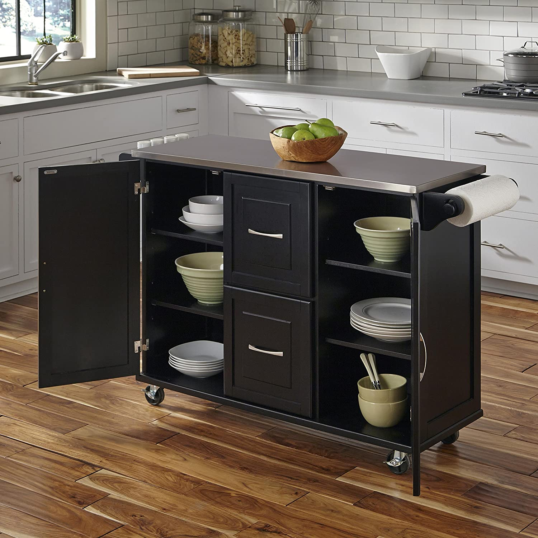 Amazon.com - Home Styles 4515-95 Patriot Kitchen Cart, Black ...