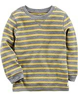 Carter's Little Boys Striped Knit Long Sleeve Tee (5T, Yellow)