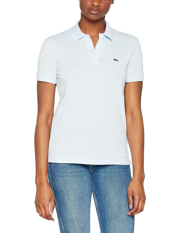 f867932b269 Lacoste Women's Classic Fit Petit Blue Polo T-Shirt Light Blue in Size EU 42  / XL at Amazon Women's Clothing store: