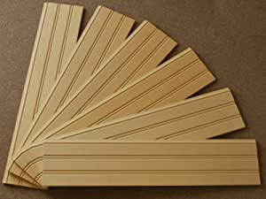 """6 Pack - 36"""" Tall x 8"""" Wide x 5/8"""" thick Beadboard Panels - Covers 4FT of Wall - Premium MDF"""