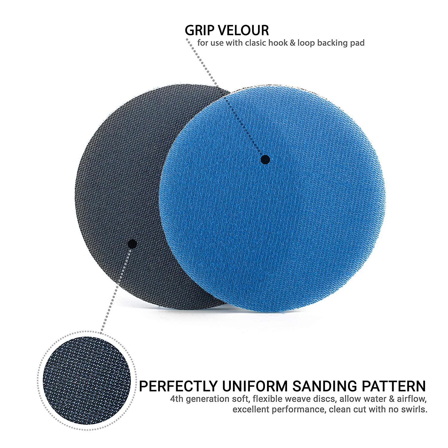 Silicon Carbide Sanding Disc///Ø 5 inch//Pack of 5 Discs GLASS POLISH GP14503 GlasX-120 Medium Grade Abrasive Disc with Hook and Loop
